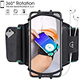 Sports Armband,HC electronic 360 Rotable Cell Phone Armband with Key Holder,Water Resistant Gym Run Workout Arm Band for iPhone Xs Max XR X 8 7 6S Plus Samsung Galaxy S9 S8 Note 8