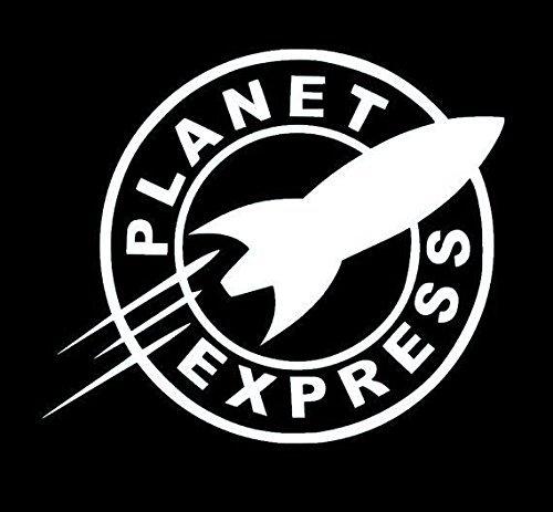 Planet Express Futurama WHITE Vinyl Car/Laptop/Window/Wall Decal