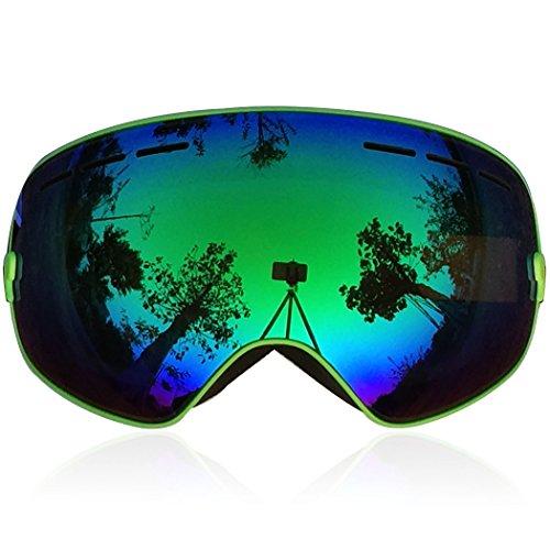 Zionor Snowmobile Snowboard Skate Ski Goggles with Detachable Lens