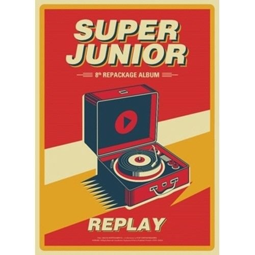 Super Junior - [Replay] 8th Repackage Album Normal Ver CD+Booklet+PhotoCard K-POP Sealed