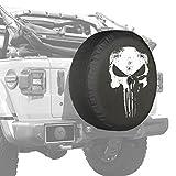 2018 Jeep Wrangler JL & JLU - 32'' Soft Tire Cover - Distressed Punisher Skull