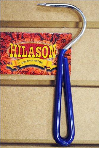 Blue Hilason Horse Tack Zinc Plated Hoof Pick With Vinyl Coated Handle