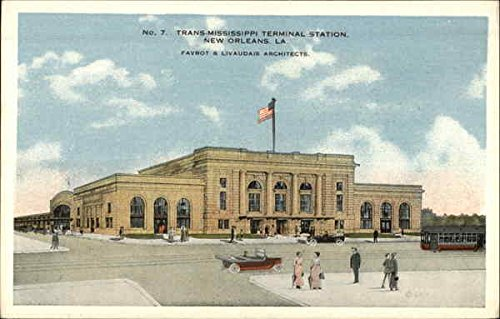 (Trans-Mississippi Terminal Station New Orleans, Louisiana Original Vintage Postcard )
