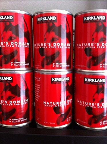 24 (13.2 Oz Each) Cans Nature's Domain Kirkland Turkey and Pea Stew Dog - Dog Free Kirkland Food Grain