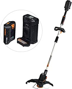 LawnMaster Grass Trimmer 60V MAX Brushed Lithium-Ion Cordless with 2.0Ah Battery &Charger Ideal for Garden Trimming and Edging with Large 36cm Cutting Diameter
