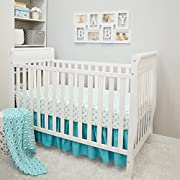 American Baby Company 3 Piece Crib Bedding Set, Aqua, 28  x 52