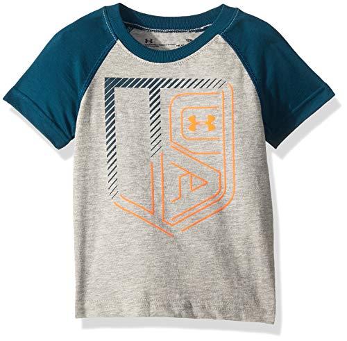 (Under Armour Boys' Baby Short Sleeve Graphic Tee, True Grey Heather 12 Months)