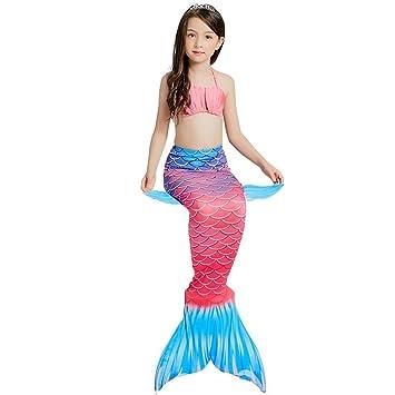 MARYYUN 3 Piezas Disfraz De Sirena Infantil,Conjunto con ...