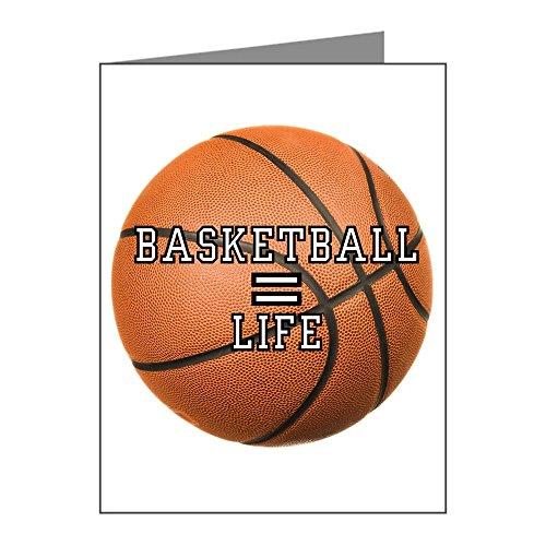 X-Large Greeting Card Basketball Equals Life