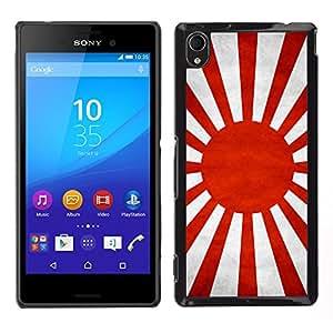 LECELL--Funda protectora / Cubierta / Piel For Sony Xperia M4 Aqua -- Nación Bandera Nacional País Japonesa --