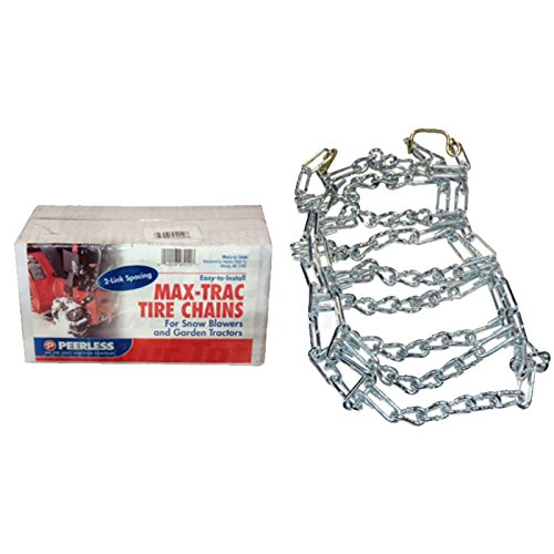 Pair of 2 Link Snow Blower Tractor Tire Chains 16 X 6.50 X 8 5.70 X 8 by Peerless