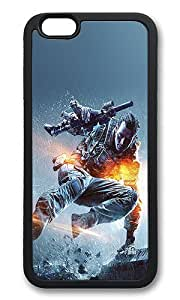 iPhone 6 Case - Battlefield 4 Jump Game Shockproof TPU Rubber Soft Case for iPhone 6 4.7 inch Black