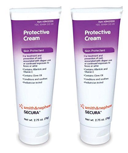 Secura Protective Cream - 2.75 Ounces Tube - Pack of 2 Smith and Nephew
