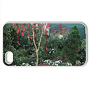 Conservatory of flowers in Edmonton 01 - Case Cover for iPhone 4 and 4s (Flowers Series, Watercolor style, White)