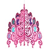 Disney Princess Glitter Chandelier Birthday Party Decoration (1 Piece), Pink, 32