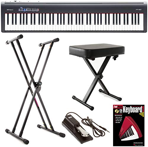 Roland FP-30 (Black) Essential Keyboard Bundle by Generic