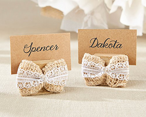 144 Burlap Bow Place Card Holders