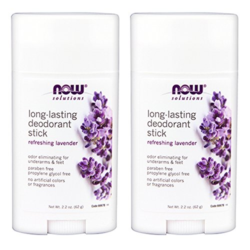 NOW Solutions, Deodorant Stick, Long Lasting, Refreshing Lavender Scent, Odor Eliminating for Underarms and Feet, 2.2-Ounce