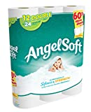 Angel Soft Toilet Paper, Bath Tissue, 12 Double Rolls