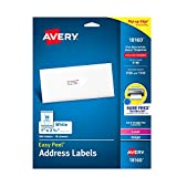 Avery Address Ink Jet Labels, 1 x 2-5/8 Inches, White, 30 Up, 10 Sheets (18160)