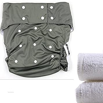 LukLoy Dual Opening Pocket Washable Adjustable Reusable Leakfree Blue Teen//Adults Cloth Diapers Nappy with 2pcs Inserts for Incontinence Care