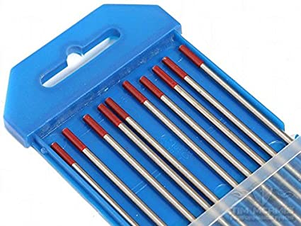 Pack of 10 5//32 Size Taipan Abrasives WC-00876 Weldclass Tungsten Thor 2/% Electrodes Red Tip
