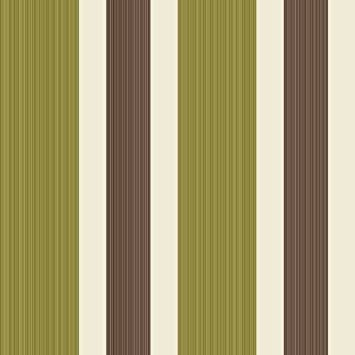 Green Brown Cream FD Sunflower Stripe Fine Decor - Green and brown wallpaper