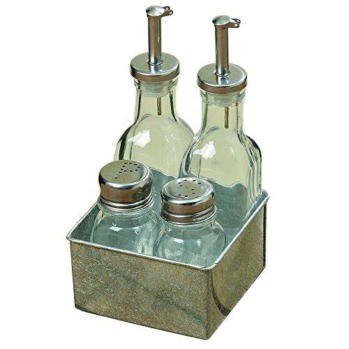 Set da cucina e da tavola - Dosatori per Aceto, olio, sale e pepe in zinco Unbekannt