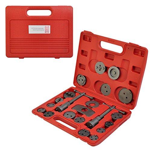 Universal Caliper Tool Kit Case Wind Back Disc Brake Pad Piston Compressor 22pc (Real Compressor)