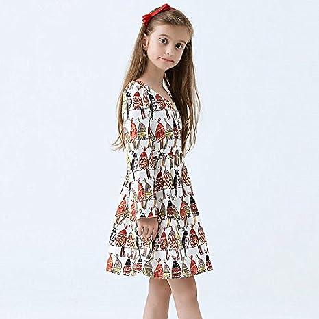 Impression Robe Manche Hand Bébé Fille Princesse Robes Longue Little wgqPRBB