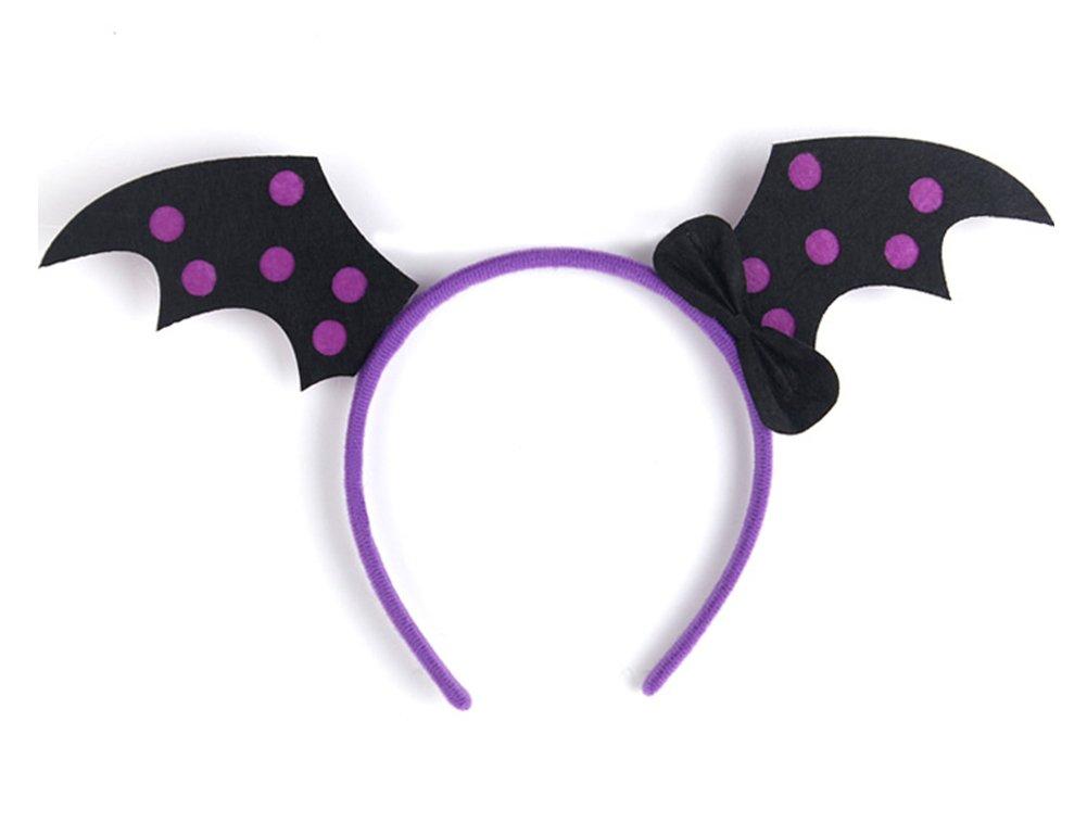 Demarkt Halloween Party Head Boppers Black Bat Purple Headband