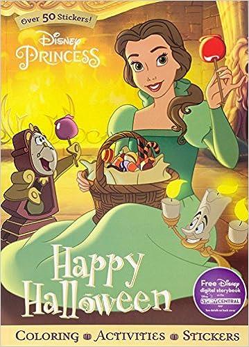 Disney Princess Happy Halloween Sticker Scenes Coloring Book Parragon Books Ltd 9781474854849 Amazon