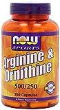 Now Foods Arginineand Ornithine 250 Capsules (2 Pack)