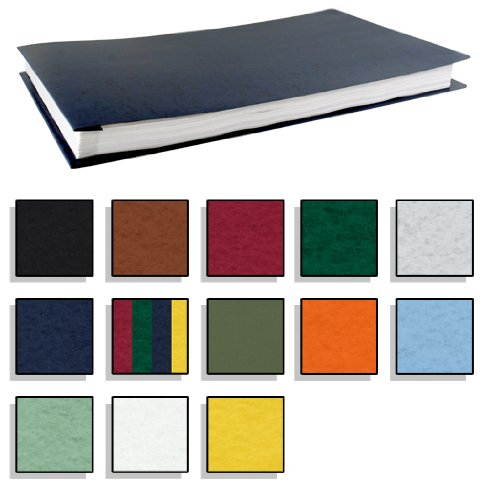 11x17 Report Cover Fiberboard Pressboard Binder With Fold-over Metal Fasteners (Multicolor Pack)