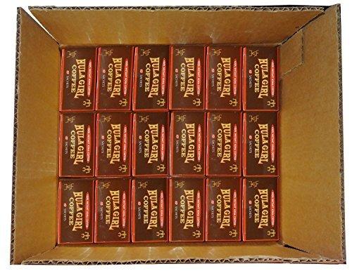 18 - Boxes of Hula Chick 12 sachets 100% FREEZE DRIED Instant Kona Coffee 1.7 grams each sachet