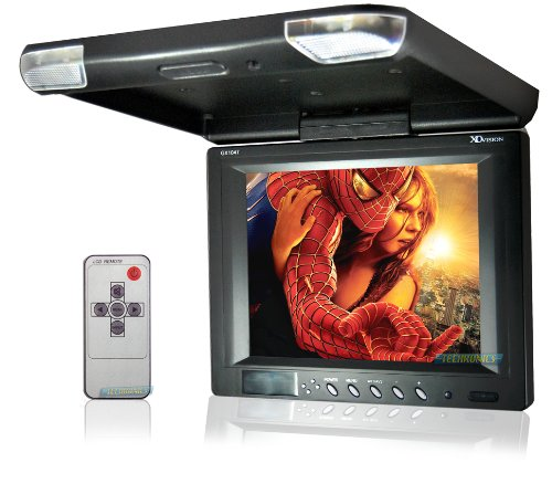 XO Vision GX1047 10.4-Inch Enhanced Resolution TFT Overhead Monitor with Built-in IR for Headphones