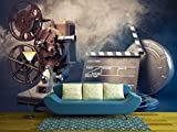 wall26 - Filmmaking Concept Scene with Dramatic Lighting - Removable Wall Mural | Self-adhesive Large Wallpaper - 100x144 inches