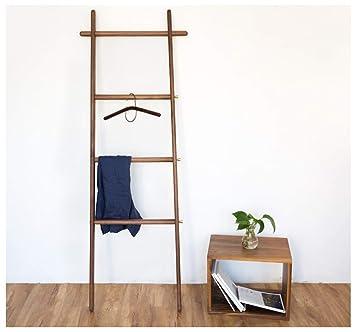 Amazon.com: XIAOLONG Coat Rack, Solid Wood Ladder Coat Rack ...