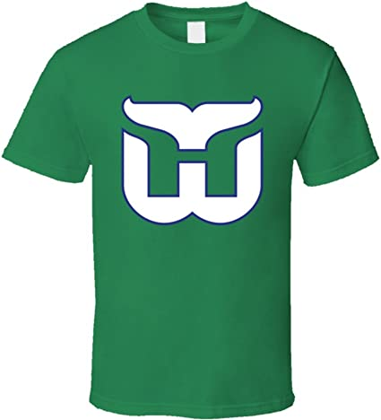 HARTFORD WHALERS DEFUNCT NHL OLD TIME HOCKEY Green T-SHIRT NEW Vintage Team New