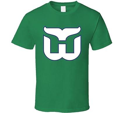 Hartford Whalers Classic Retro Logo T Shirt S Irish Green 61e92f88d