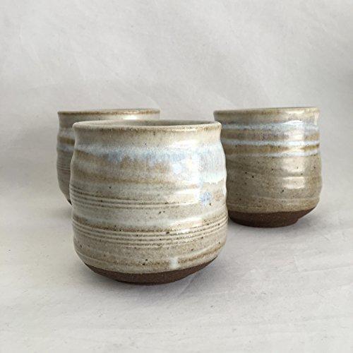 Wax White Tea Cup, Handmade Ceramic TeaCup, Yunomi 9 oz. WWJUN17TC1