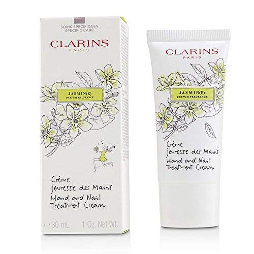 - Clarins Hand and Nail Treatment Cream, Jasmine, 1 Ounce