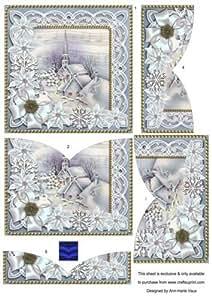 Azul Village Pascua Iglesia 5in V inferior apiladora por Ann-Marie Vaux