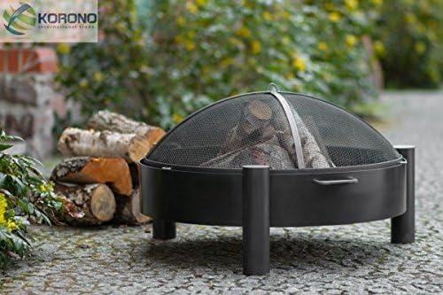 korono hoguera 60 cm con 2 asas y rejilla Protección contra chispas, Jardín, Incendio – Elegante Brasero: Amazon.es: Jardín