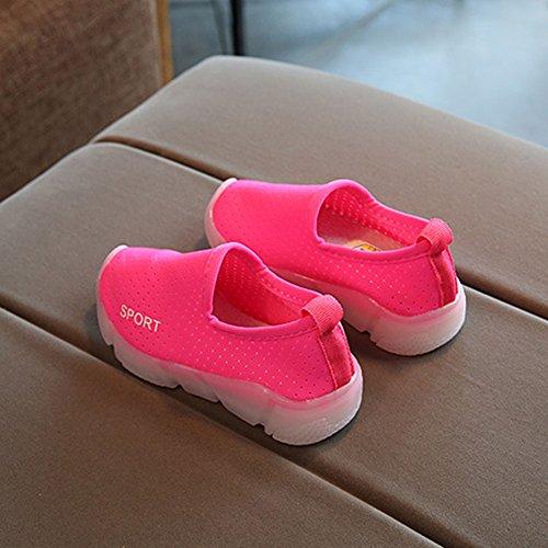 Zapatos Flash Cabrito en Antideslizante niños De Muchachos Del Los Resbalón Muchachos Ligeros Suave Rosa qwqrxaf8