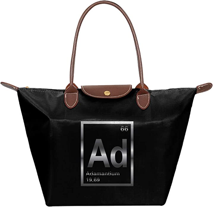 Chemistry Periodic Table Of The Elements Waterproof Leather Folded Messenger Nylon Bag Travel Tote Hopping Folding School Handbags