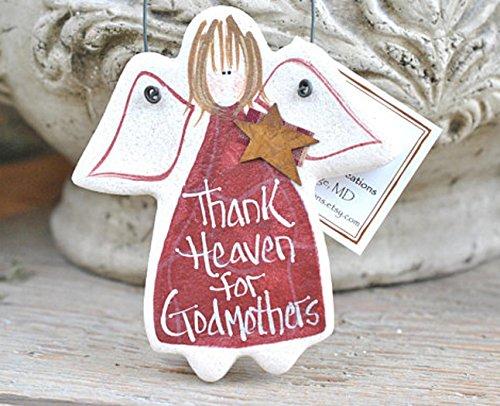 Gift for Godmother Salt Dough Godmother gift from Kids Ornament
