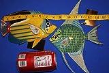 Salty Pelican Kids Bath Coral Reef Theme Wall Decor, 3-D Poly-resin 8 inch, Bundle 2 Fish