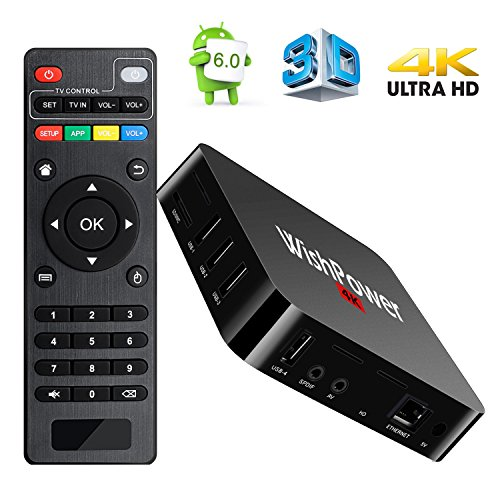 Wishpower Electronic021 Android TV BOX, MX Pro 5.1 Quad Core 1G/8G UHD 4K Android Box Smart TV BOX with HDMI DLNA