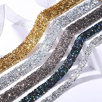 A,1.5cm Breit RAILONCH 10 Yard Strass Band Funkeln Kristall Diamond f/ür Schmuck Handwerk Tasche N/ähen DIY Hochzeit Deko
